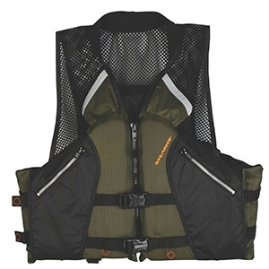 Stearns Comfort Series Collared Angler Kayak Fishing Life Vest